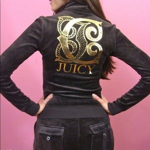 Juicy Couture brown & gold track suit